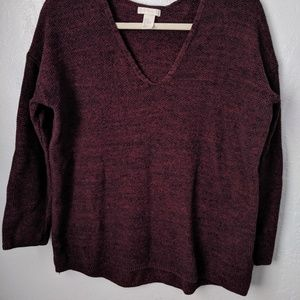 Long sleeve vneck sweater